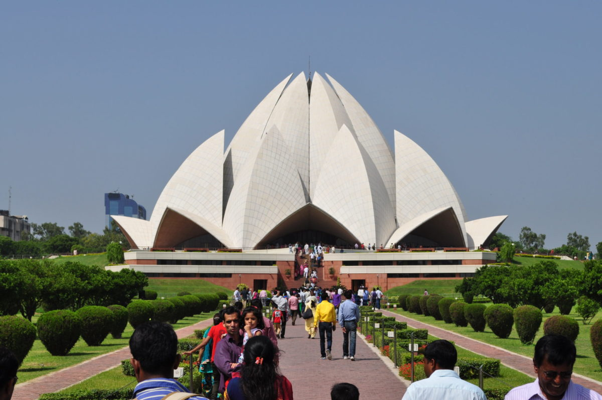 Trip to the lotus temple india china institute for The lotus temple