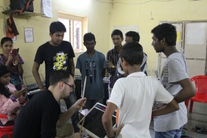 At the Mewsic Center (Dharavi)
