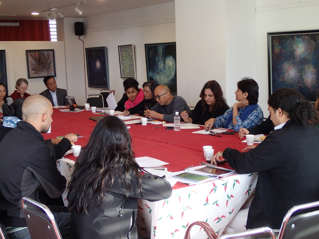 Participants at the City Museum, Kathmandu talk about the relationship between arts and humanities and climate change.